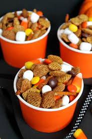Rice Krispie Halloween Treats Candy Corn by Fall Halloween Snack Mix Because Of My Nora U0026 Quinn Will Sub