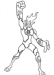 Download Coloring Pages Of Ben 10 Cartoon Network