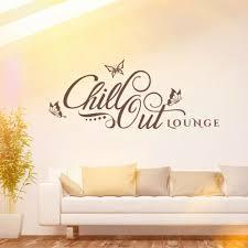 top wandtattoo chill out loungeretro design wand bild