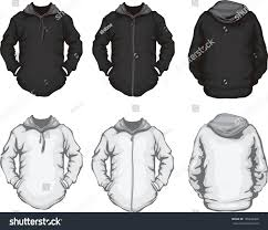vector illustration black white mens hoodie stock vector 105846068