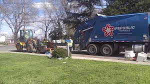 Neighborhood Clean Up Curbside Pick Up Tractor & Garbage Truck - YouTube