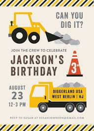 Party Zone Children's Birthday Party Invitation. Includes Trucks ... 9 Of The Best Kids Birthday Party Ideas Gourmet Invitations Dump Truck Invitation Template Wwwtopsimagescom Big Rig Small Napkins Amazoncouk Kitchen Home Funny Cstruction Baby Shower Or Photo Booth Props Trucks 1 49 Themed With Free Printables A How To Ay Mama Lincolns Third Veronikas Blushing Modern Prop Jeremy S 2nd Tkcstruction Boys Inspiration Venus Tonka Su92 Advancedmasgebysara