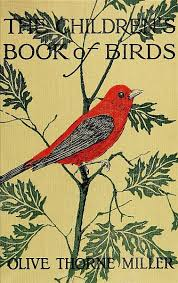 Cover The Childrens Book Of Birds Red Bird On Leafed Branch