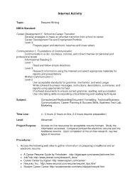 Sample High School Activities Resume Copy Examples Template