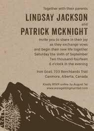Save The Date Wedding Invitation Invite Camping Rustic Trees Mountain Fog Suite Card Monogram