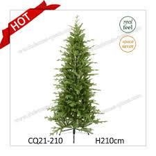 H210cm Kennedy Fir Narrow Plastic Christmas Tree With Real Feel And Competitive Price