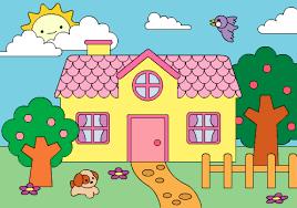 Coloring Book Cute House By Milkbun On DeviantArt