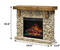 Modest Ideas Rustic Electric Fireplace Ingenious Dimplex Fieldstone Mantel Package