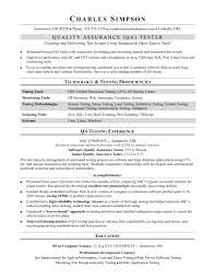 Quality Assurance Resume Examples And Cover Letter Within Sample Qa