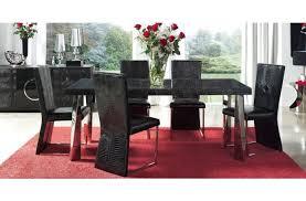 7 Piece Dining Room Set Black