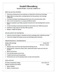 Resume Template For Bank Teller Unique Ideas Sample Resumes Banking