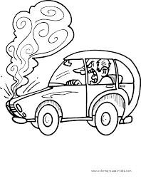 Car Color Page Cars Auto Transportation Coloring Pages Plate