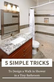 46 Cool Small Master Bathroom 5 Walk In Shower Ideas For A Tiny Bathroom Innovate