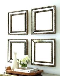 3 Piece Wall Decor Mirrors Mirror Set Of Three Medium Size