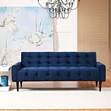 Tufted Velvet Sofa Bed by Bea Navy Velvet Sofa Free Shipping Today Overstock Com 18146904