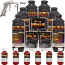 Rustoleum Spray Bed Liner by Amazon Com Custom Coat Blood Red Truck Bed Liner Coating Kit