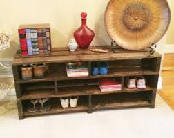 Handmade Shoe Storage Bench Shelving Rack Wood Entryway