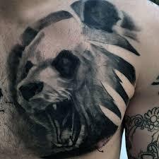 Panda Bear Animal Chest Tattoos For Guys