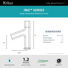 Chicago Faucet Aerator Adapter by Kraus Ino Basin Single Handle Bathroom Faucet With Custom Laminar