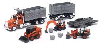 100 Toy Kenworth Trucks W900 Kubota Dump Truck W Construction Vehicles 9 Pcs Playset