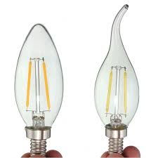 energy saving 2w cob led light bulb 110v e12 edison filament