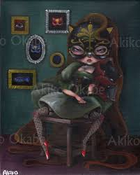 A Girl Wearing Mask Of Cat