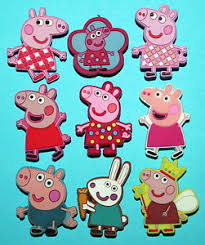 peppa pig cake decorations peppa pig cake toppers 9 cupcake decorations favours