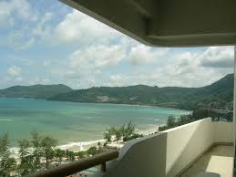 Blue October 18th Floor Balcony by Luxurious 18th Floor Oceanfront Patong Homeaway Patong