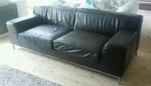 ikea kramfors sofa brown leather 3 seater in barnsley south