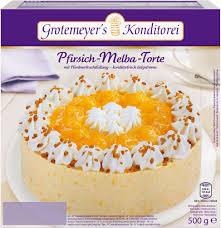 pfirsich melba torte 500 gramm grotemeyer s konditorei