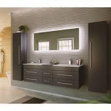 badmöbel set anthrazit doppel waschtisch led spiegel