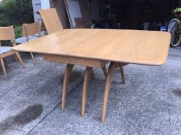 Sold For 600 In Oct2015 Heywood Wakefield Maple Dining Table 6 Chairs Mid Century Modern