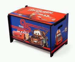 Lighting Mcqueen Toddler Bed by Delta Children Cars Toy Box Team Lightning Mcqueen