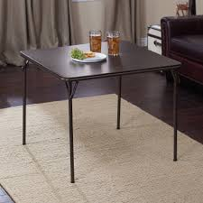 MECO Square Folding Table, 34 By 34-Inch, Cinnabar Frame And ...
