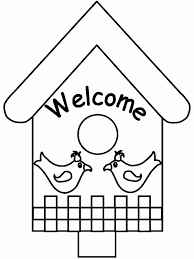 Welcome To Bird House Coloring Pages