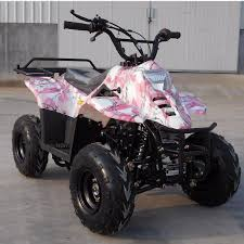100 Pink Camo Trucks New Vitacci HAWK 6 Gas Powered 110cc Kids ATV