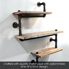 Rustic Shelf Wall Ideas Wood With Hooks Display Decorative Art