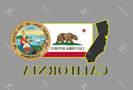 California Republic Flag Vector Photocalifornia State Map Seal And Name