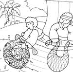 Bible Coloring The Miraculous Catch