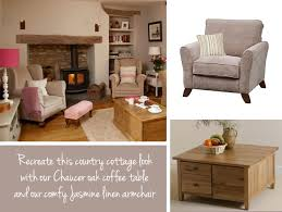 Decoration Country Cottage Living Room With Coffee Table Wicker