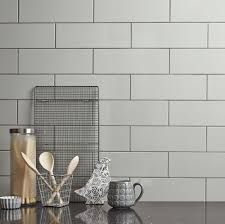 Grey Tiles With Grey Grout by Linear Grey Gloss Wall Tile Kitchen Tiles From Tile Mountain