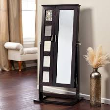 White Mirrored Jewelry Cabinet Armoire Canada by White Floor Mirror With Jewelry Storage Best 25 Mirrored Box Ideas