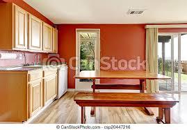 zimmer bank rustic eßtisch rotes kabinette boden