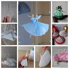 Diy Creative Paper Ballerinas With Napkin And Wire Step By In Art Craft Ideas For Home Decor