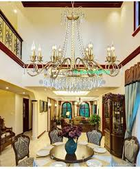 Dining Room Candle Chandelier Modern Living Champagne Lustre Coffee Shop Crystal Romantic Chandeliers Led Lighting