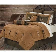 Cowhide Cross Western Bedding Comforter Set Super Queen