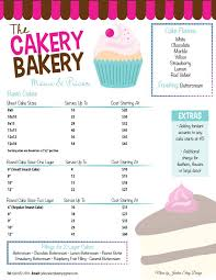 bakery menu Google Search …