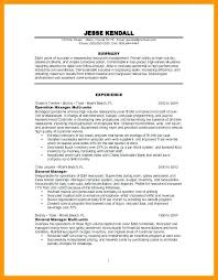 General Resume Sample Restaurant Manager Examples Of Example For With Experience And
