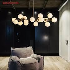 moden kunst pendelleuchte gold schwarz magische bohne led le wohnzimmer esszimmer shop led striplight glas pendelleuchte leuchten