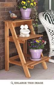 garden plant stand woodworking plan outdoor patio furniture